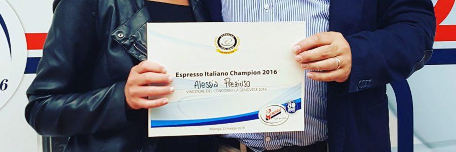 Alessia Preziuso vince la gara preliminare di Espresso Italiano Champion 2016 ospitata da La Genovese