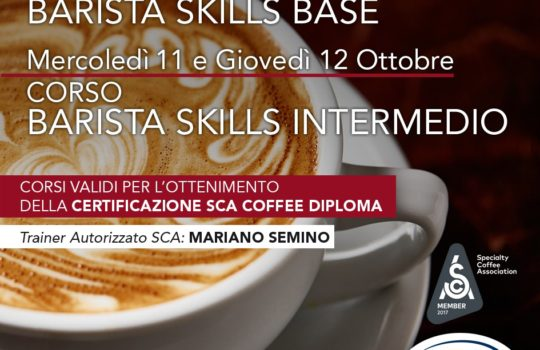 October 2017: Training courses SCA for barista at La Genovese
